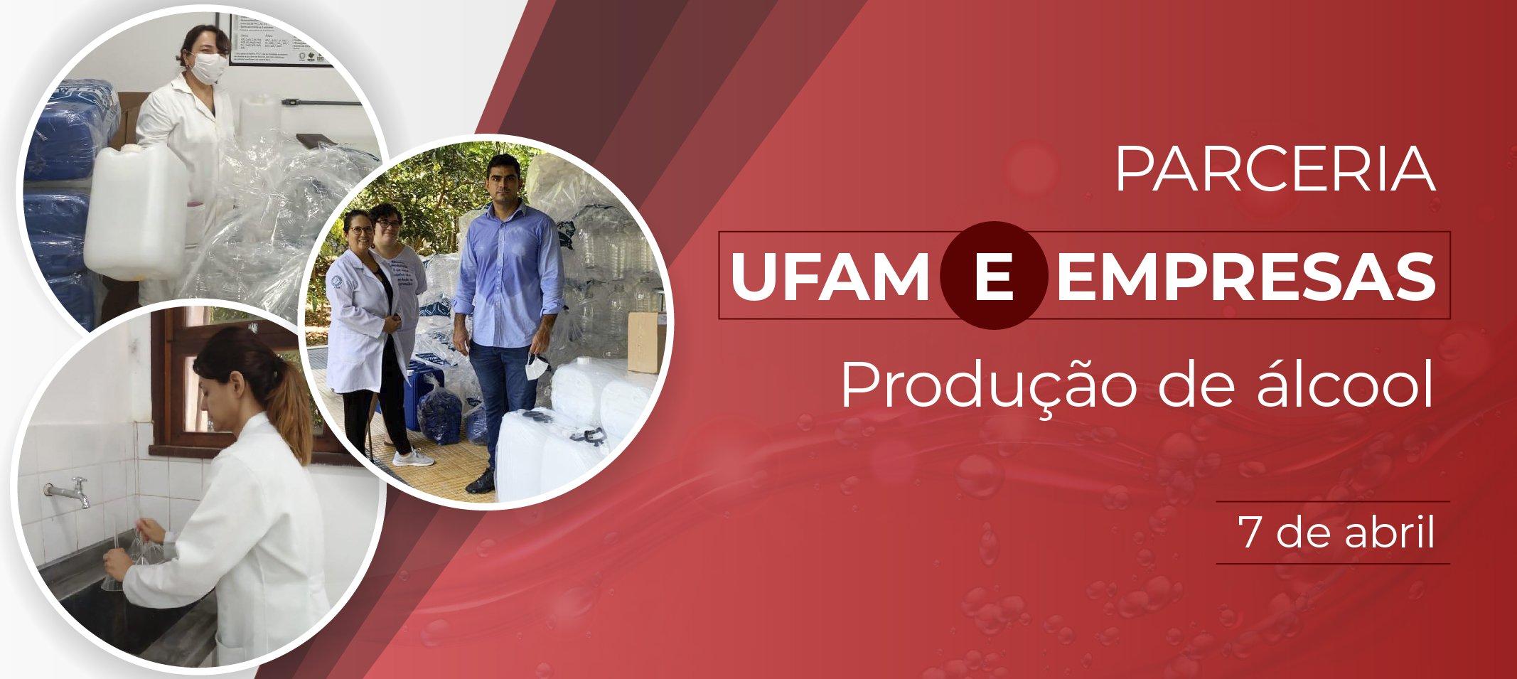 Ufam produz álcool líquido 70% e em gel em parceria com empresas e indústrias